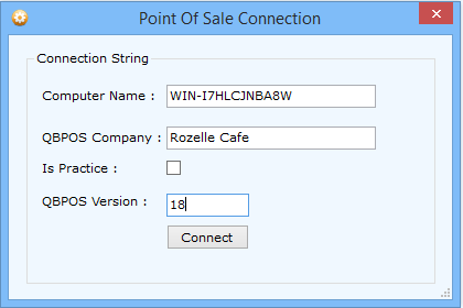 How to connect Zed Axis to QuickBooks Point of Sale