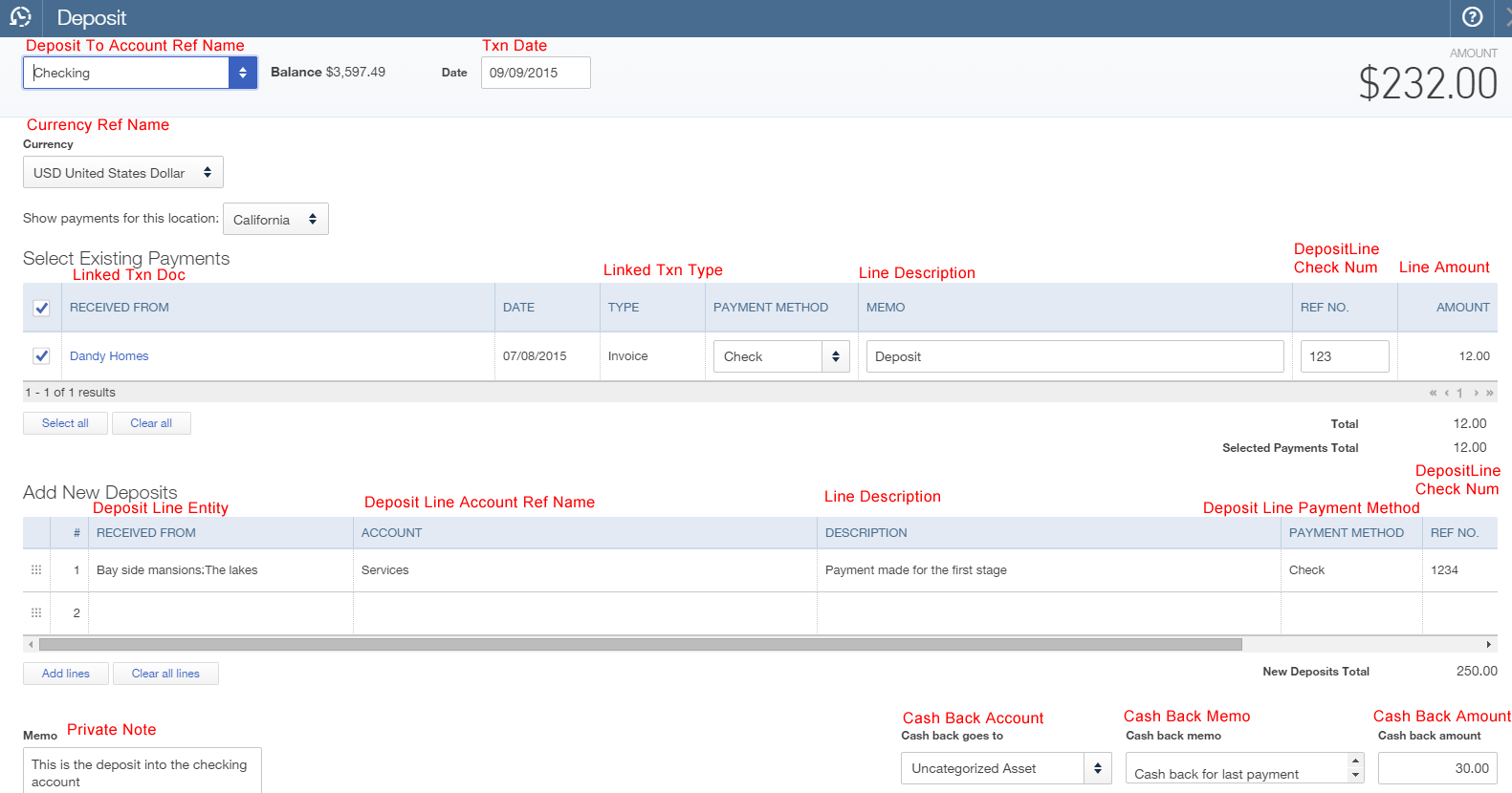 Import deposits into QuickBooks Online - Zed Systems
