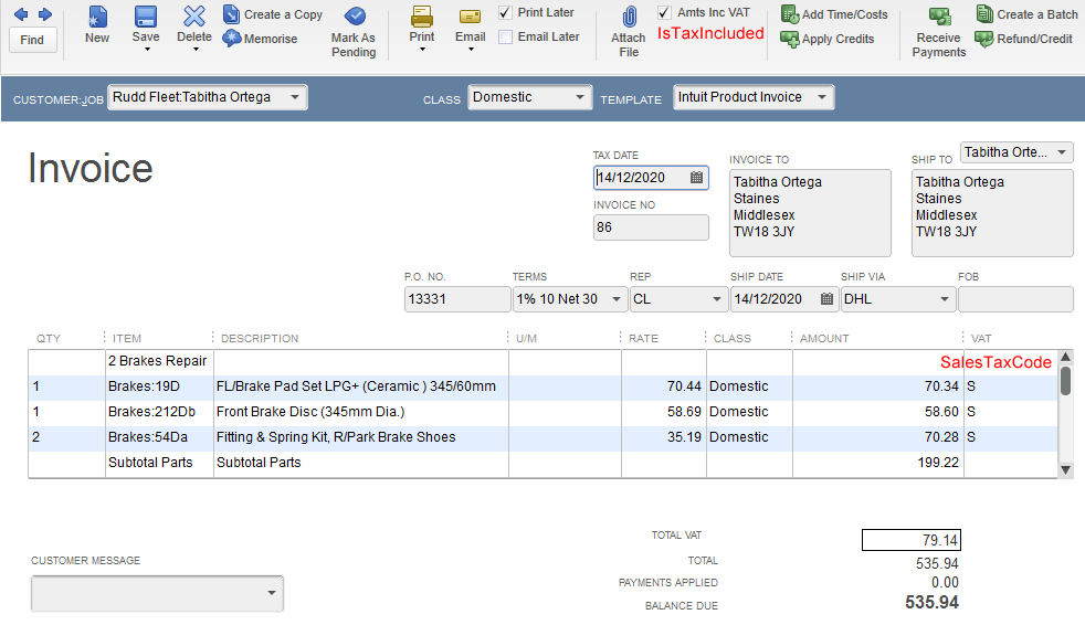How to import VAT on transactions into QuickBooks - Zed Systems