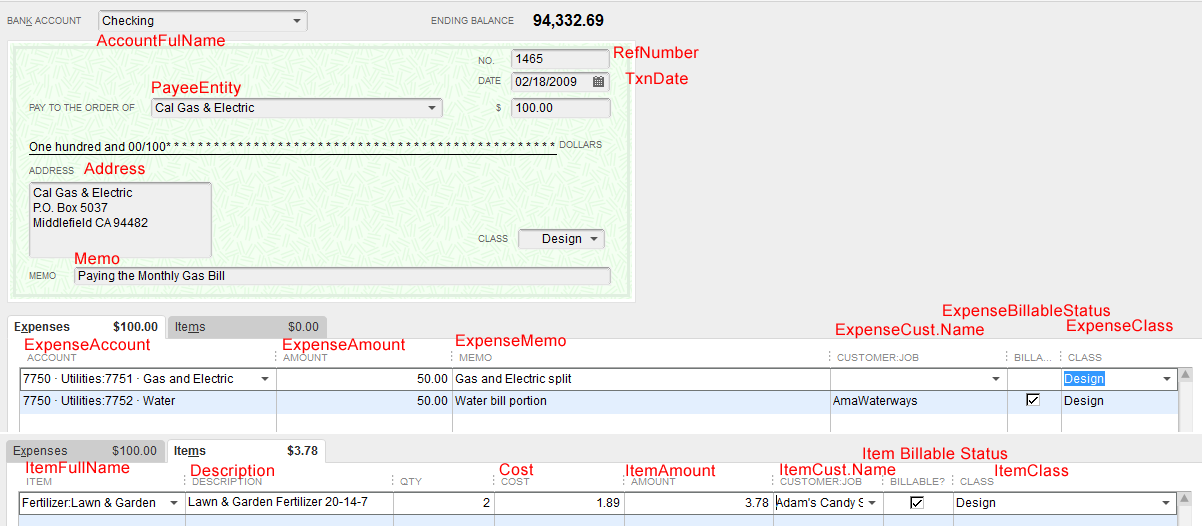 Import checks into QuickBooks