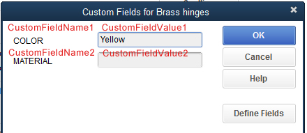 Custom field defined
