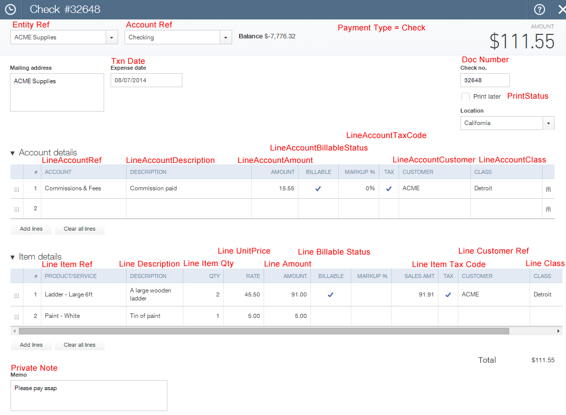 Import Checks into QuickBooks Online