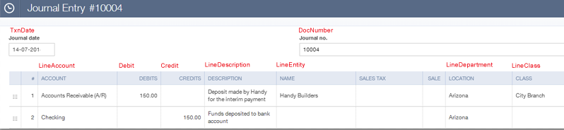 Import journal entries into QuickBooks Online