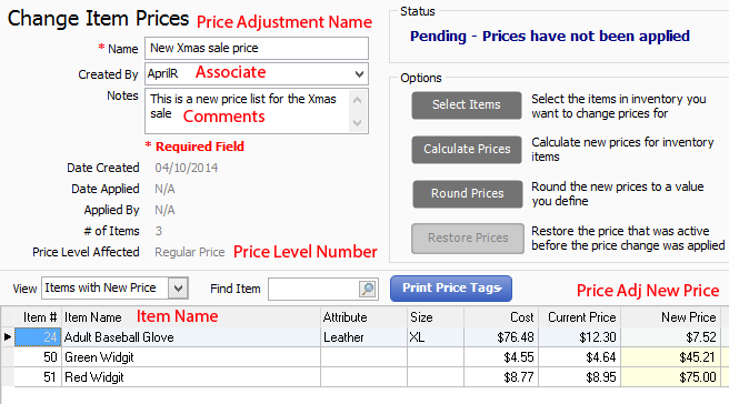 Price Adjustment into QuickBooks POS