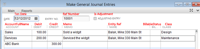Import Journal Entries into QuickBooks